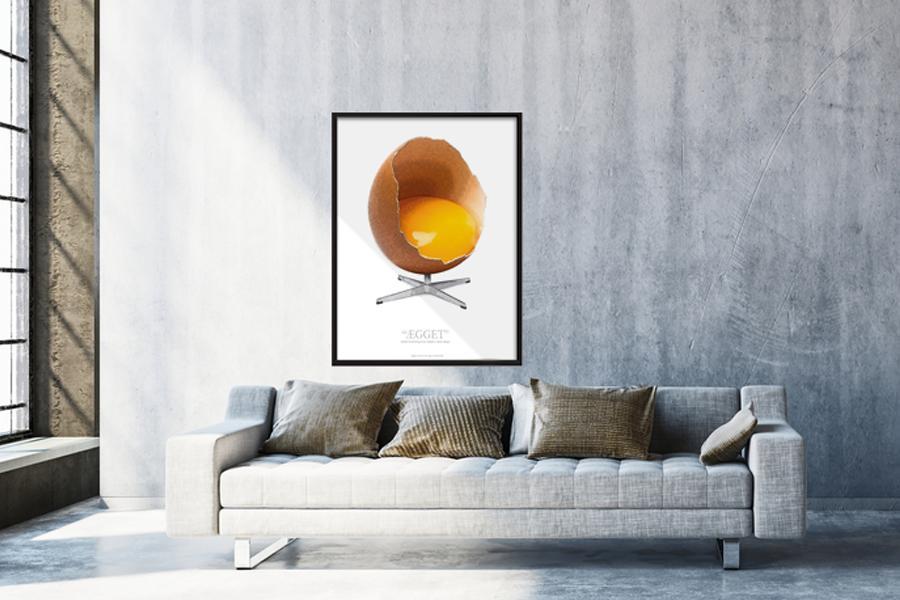 Grafisk fortolkning af Ægget - Plakat med ramme - Plakater ...