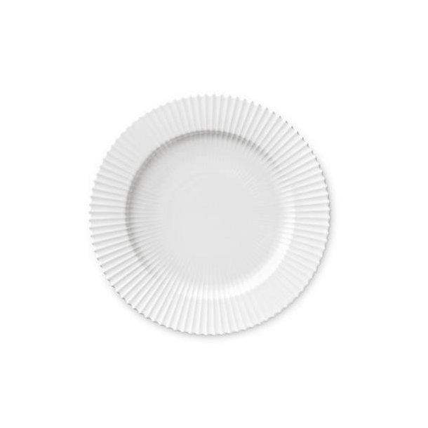 Lyngby tallerken 27 cm hvid porcelæn 2. sortering
