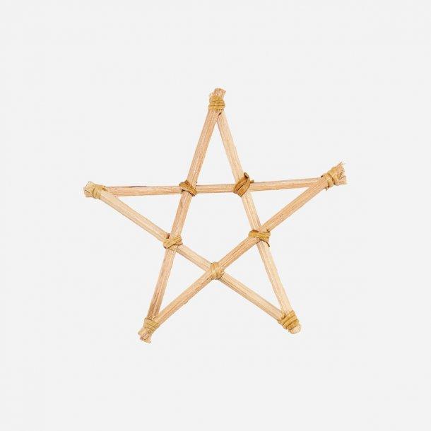 Ornament Star Natural 12cm bambus pakke med 12 stk  | House Doctor