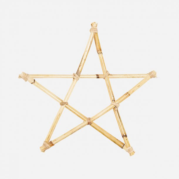 Ornament Star Natural 25cm bambus pakke med 4 stk  | House Doctor