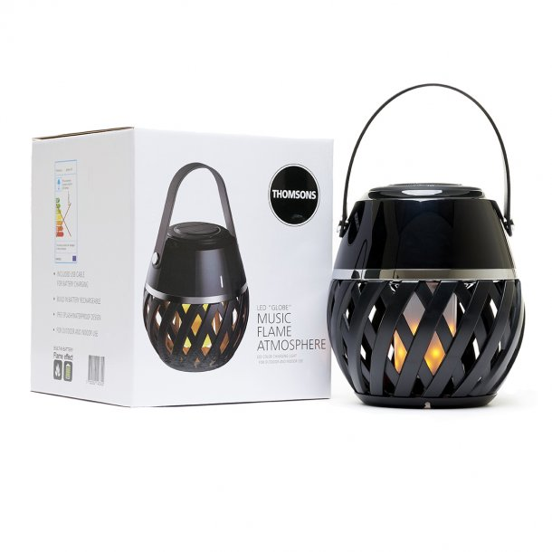 Flame atmosphere LED Globe lampe udendørslys med musik  | Thomsons