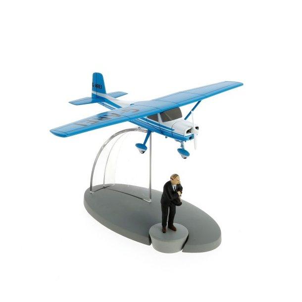 Tintin model fly Blå G-Arei fra Den Sorte Ø | Moulinsart