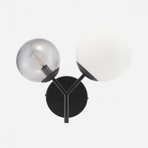 Væglampe Twice Sort E14 | House Doctor