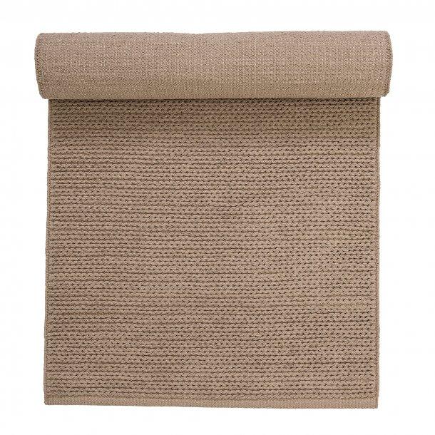 Gulvtæppe i bomuld sandfarvet 240x70cm | Bloomingville
