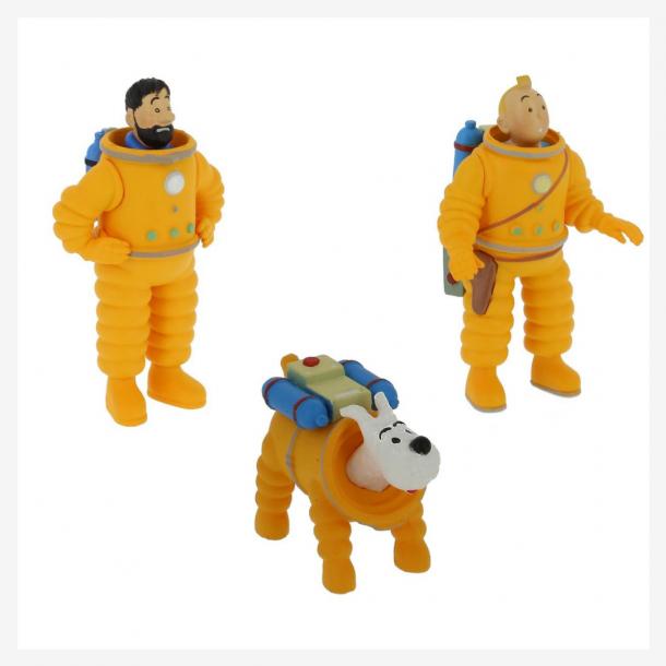 Cosmonaut Plast figur Tintin Haddock og Terry | Moulinsart