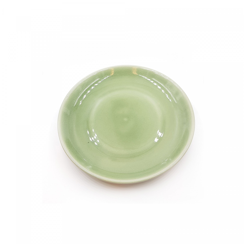 Efterstræbte Frokosttallerken i keramik - grøn   Thomsons - Tallerkner - Thomsons XZ-55