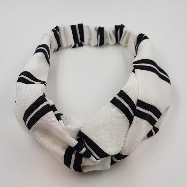 Hårbånd sort med lodret striber