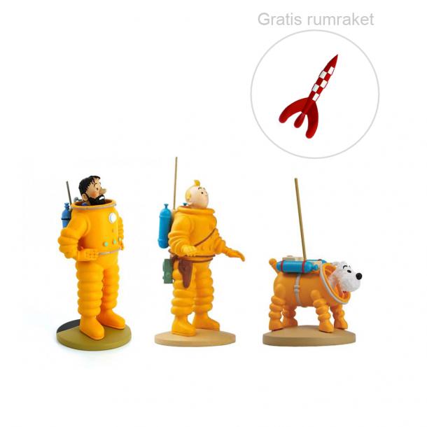 Tintin måne sæt inkl gratis raket | Moulinsart