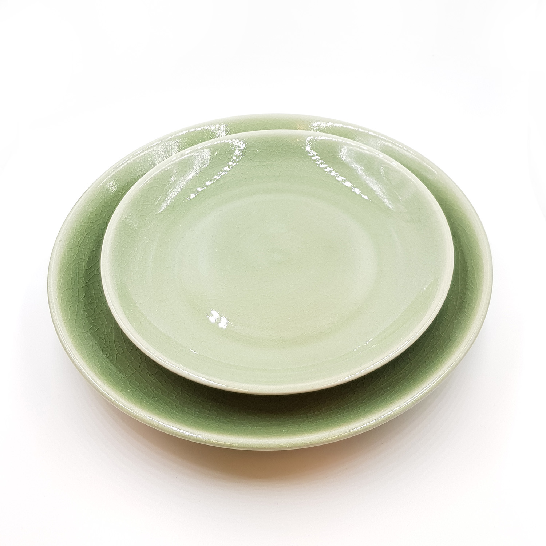 Tidsmæssigt Frokosttallerken i keramik - grøn   Thomsons - Tallerkner - Thomsons QX-84