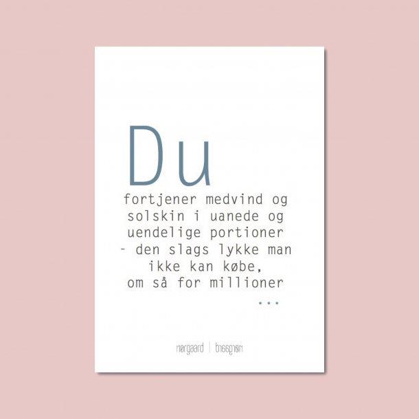 Kort Du fortjener medvind | Nørgaard Nørgaard