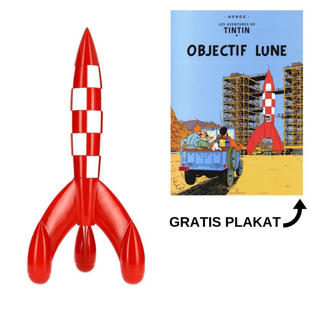 186edf6c78a24 60 cm raket inkl. gratis Tintin plakat Mission til Månen ...