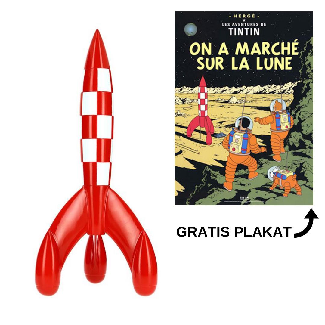 a1273e1479570 60 cm raket inkl. gratis Tintin plakat De første skridt på Månen ...