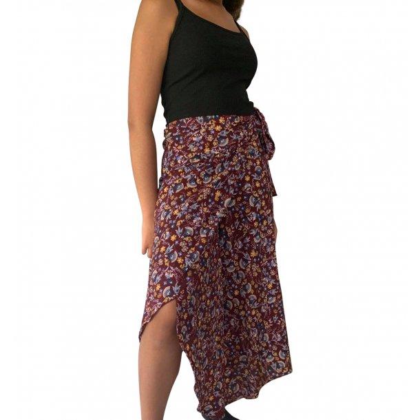 Slå om nederdel rødbrun | MillaVanilla