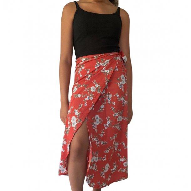 Slå om nederdel rød | MillaVanilla