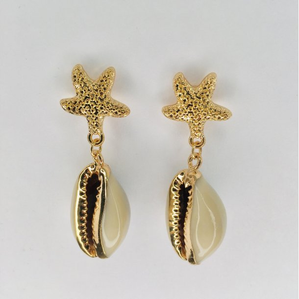 Søstjerne øreringe med konkylie | MillaVanilla