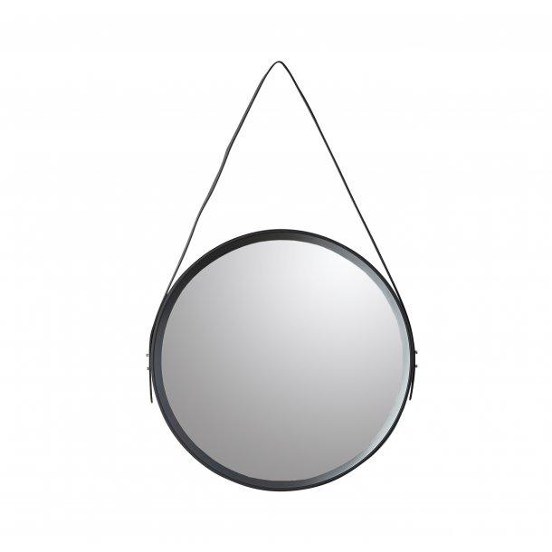 Rundt spejl med ramme D40cm sort | Speedtsberg