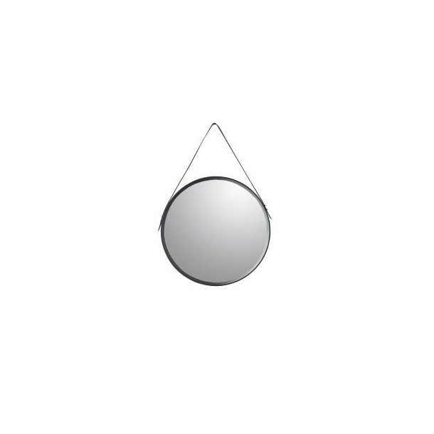 Rundt spejl med sort ramme D50cm | Speedtsberg