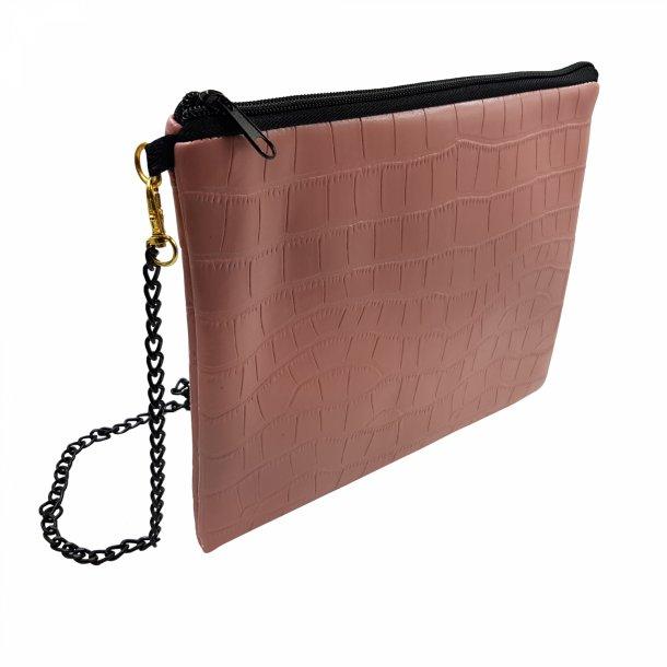 Clutch med kæderem -  rosa | Thomsons