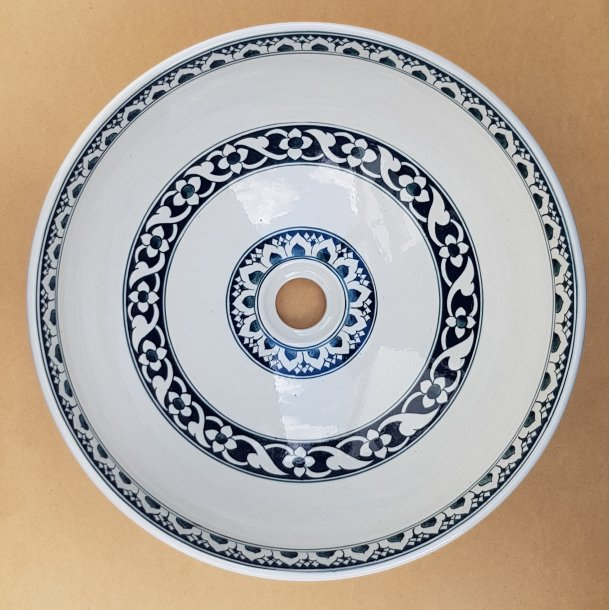 Porcelæn håndvask grå  hvid