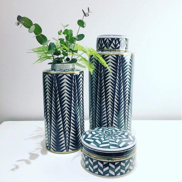 Lågkrukke vase gråblå | Thomsons