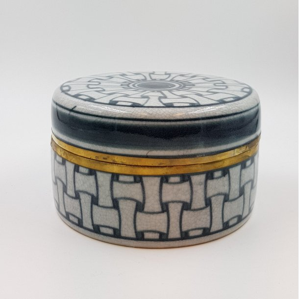 Keramik lågkrukke Weave gråsort | Thomsons