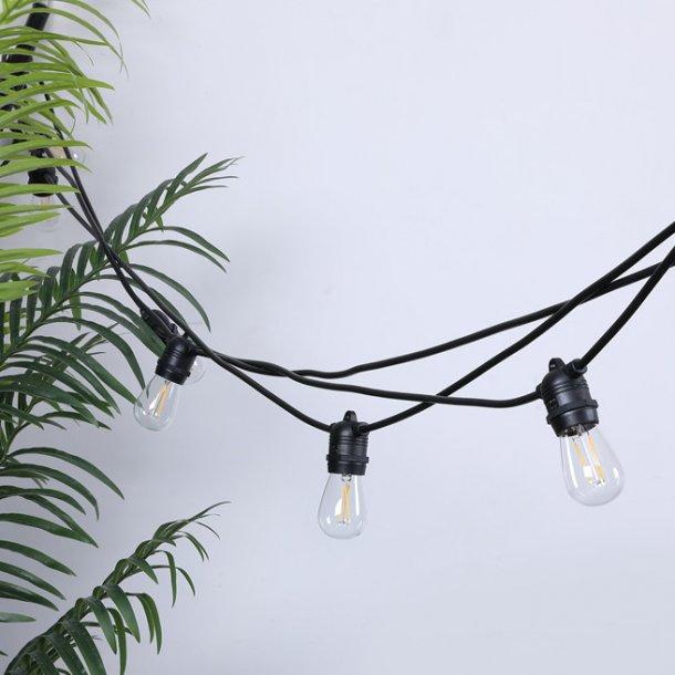 Lyskæde med 10 LEDpærer til indendørs og udendørs - 10 m