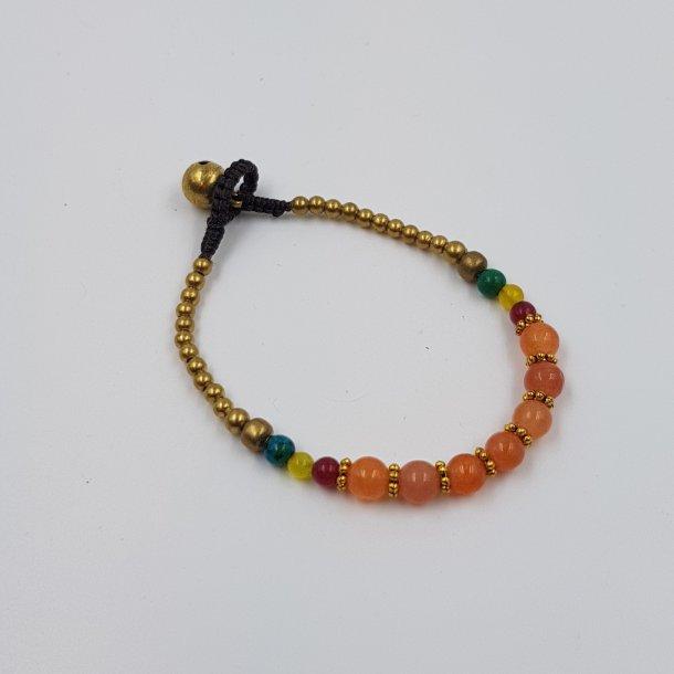 Armbånd med mix perler koral