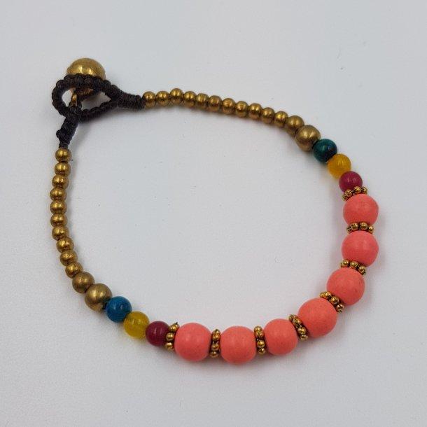 Koral armbånd med mix perler