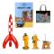 Tintin Cosmo sæt Mission til Månen med gratis med gratis taske | Moulinsart