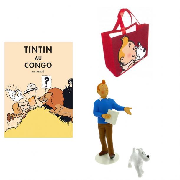 Tintin og Terry gavesæt med gratis taske   Moulinsart